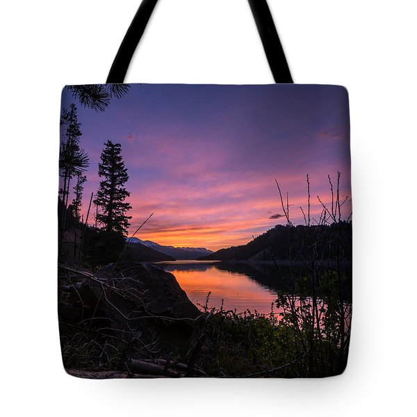 South Shore Lake Dillon Sunset Tote Bag