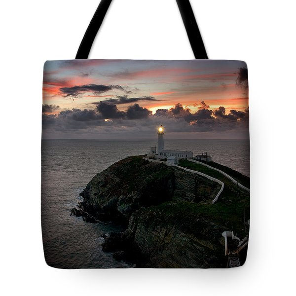South Stack At Sunset Tote Bag