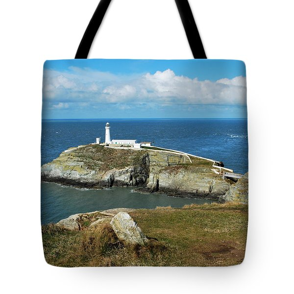 South Stack Light House Tote Bag