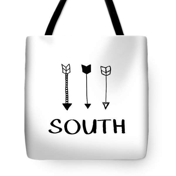 South With Arrows- Art By Linda Woods Tote Bag