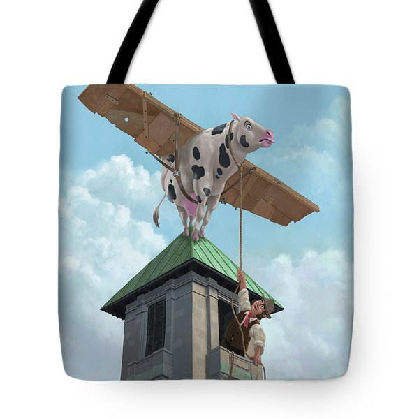 Southampton Cow Flight Tote Bag