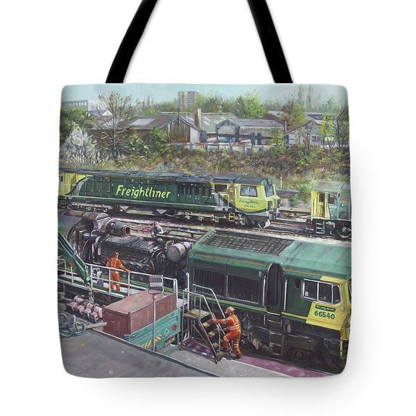 Southampton Freightliner Train Maintenance Tote Bag