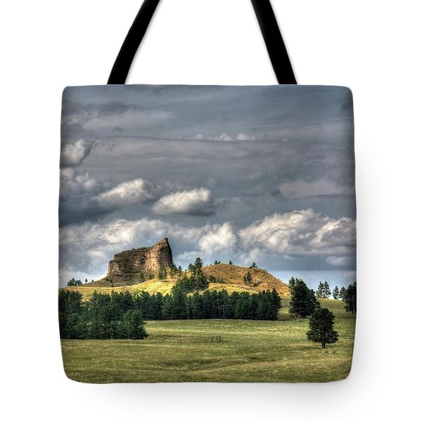 Belltower Butte Tote Bag