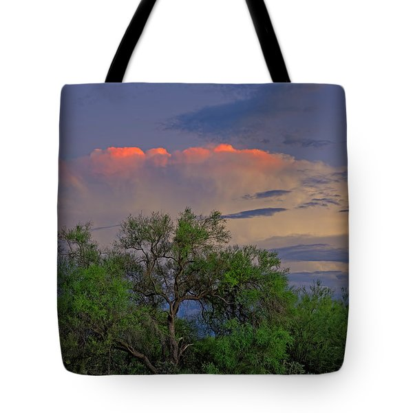 Tote Bag featuring the photograph Southeast Of Sunset H38 by Mark Myhaver