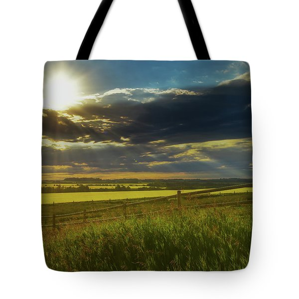 Southern Alberta Crop Land Tote Bag