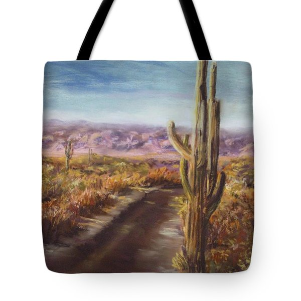 Tote Bag featuring the painting Southern Arizona by Jack Skinner