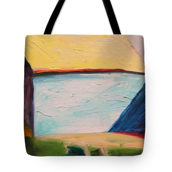 Tote Bag featuring the painting Southern Barn by John Williams