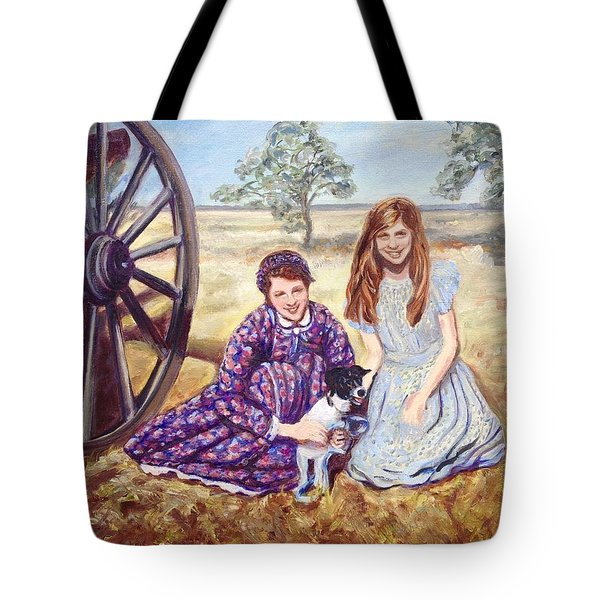 Tote Bag featuring the painting Southern Belles by J Reynolds Dail