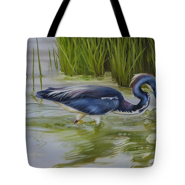 Tote Bag featuring the painting Southern Blues by Phyllis Beiser