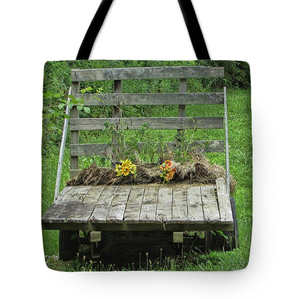 Southern Flower Cart Tote Bag by Victor Montgomery