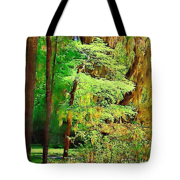 Tote Bag featuring the photograph Southern Forest by Donna Bentley