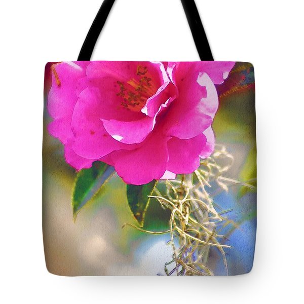 Tote Bag featuring the digital art Southern Rose by Donna Bentley