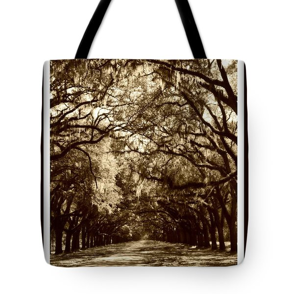 Southern Welcome In Sepia Tote Bag by Carol Groenen