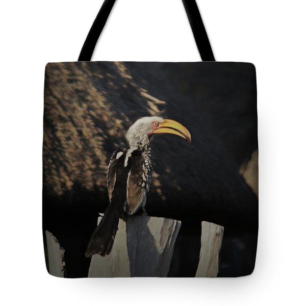 Southern Yellow Billed Hornbill Tote Bag by Ernie Echols