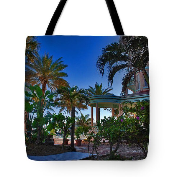 Southernmost Lush Garden In Key West Tote Bag by Susanne Van Hulst