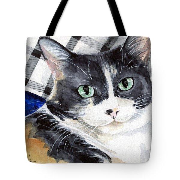 Southpaw - Calico Cat Portrait Tote Bag