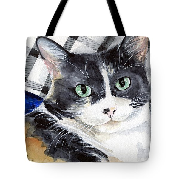 Southpaw - Calico Cat Portrait Tote Bag
