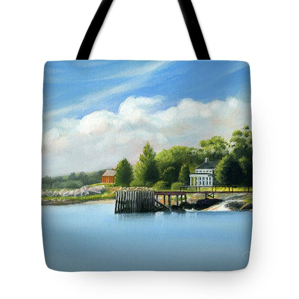Southport Harbor Tote Bag by John Deecken
