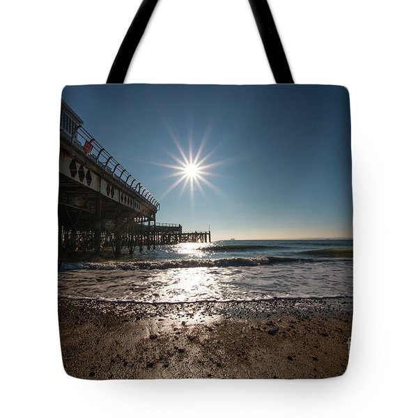 Southsea Pier Tote Bag by Andrew Middleton
