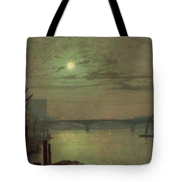 Southwark Bridge Tote Bag by John Atkinson Grimshaw