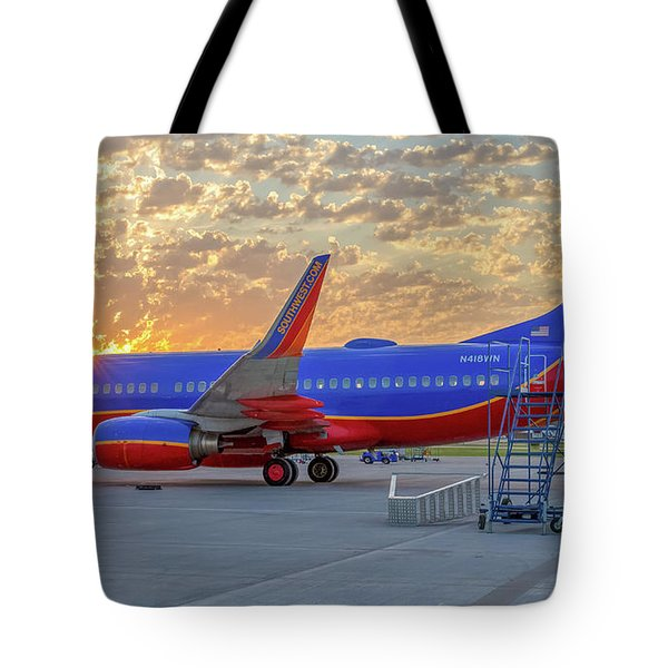Tote Bag featuring the photograph Southwest Airlines - The Winning Spirit by Robert Bellomy