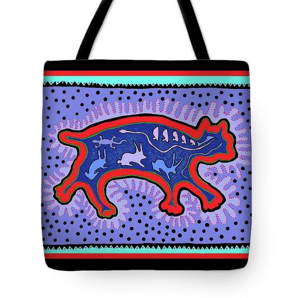 Tote Bag featuring the digital art Southwest Desert Feral Cat by Vagabond Folk Art - Virginia Vivier