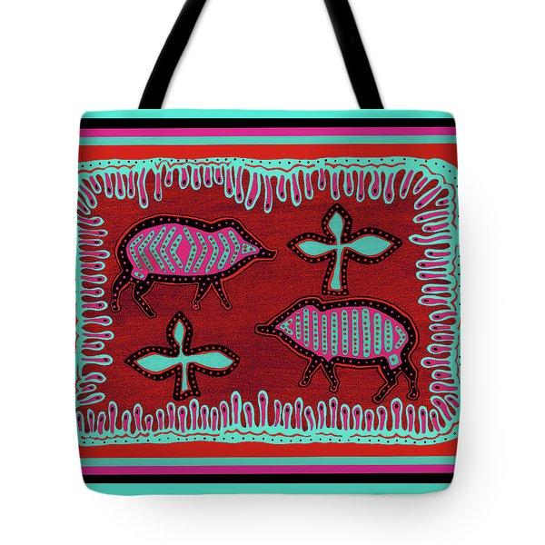 Tote Bag featuring the digital art Southwest Desert Javelina by Vagabond Folk Art - Virginia Vivier