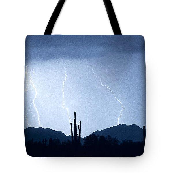 Southwest Desert Lightning Blues Tote Bag by James BO  Insogna