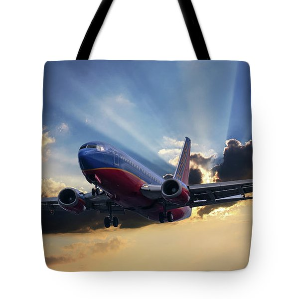 Southwest Dramatic Rays Of Light Tote Bag