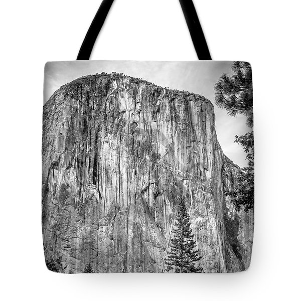 Southwest Face Of El Capitan From Yosemite Valley Tote Bag
