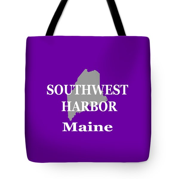 Tote Bag featuring the photograph Southwest Harbor Maine State City And Town Pride  by Keith Webber Jr
