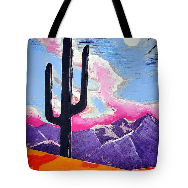 Tote Bag featuring the painting Southwest Skies 2 by J R Seymour