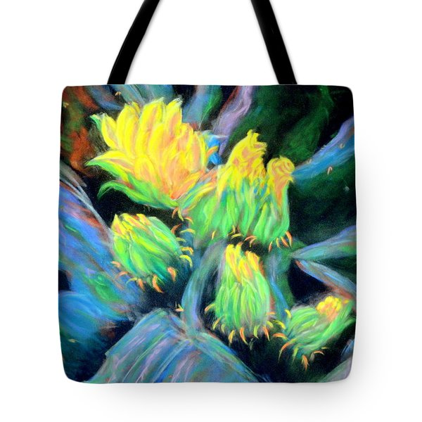 Tote Bag featuring the pastel Southwesterly Cactus Impression Of.....sold by Antonia Citrino