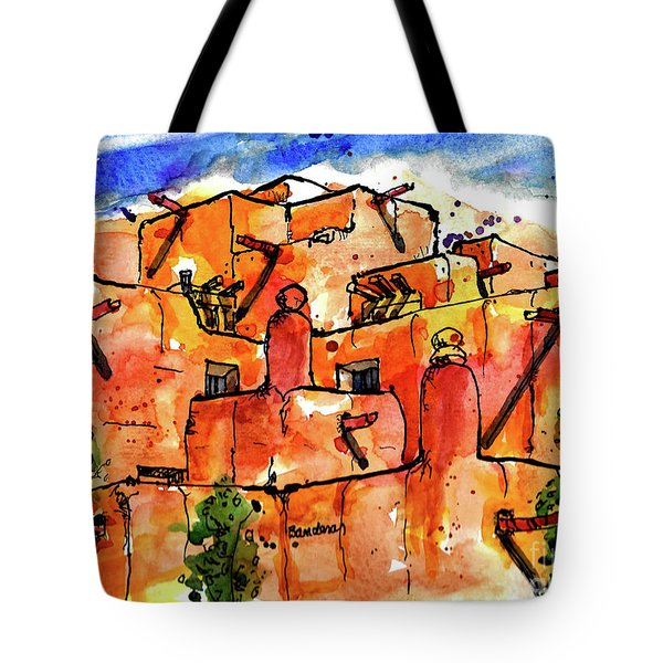 Tote Bag featuring the painting Southwestern Architecture by Terry Banderas