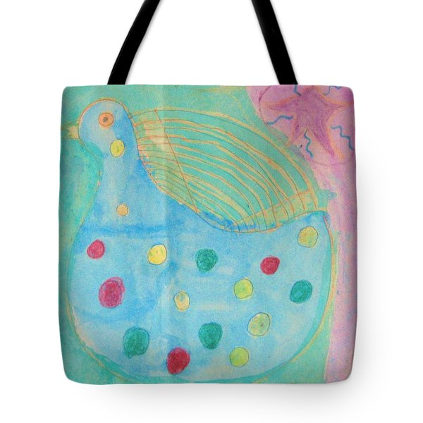 Tote Bag featuring the drawing Southwestern Chicken by Barbara Yearty