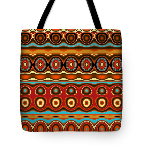 Southwestern Colors Pattern Tote Bag by Jessica Wright