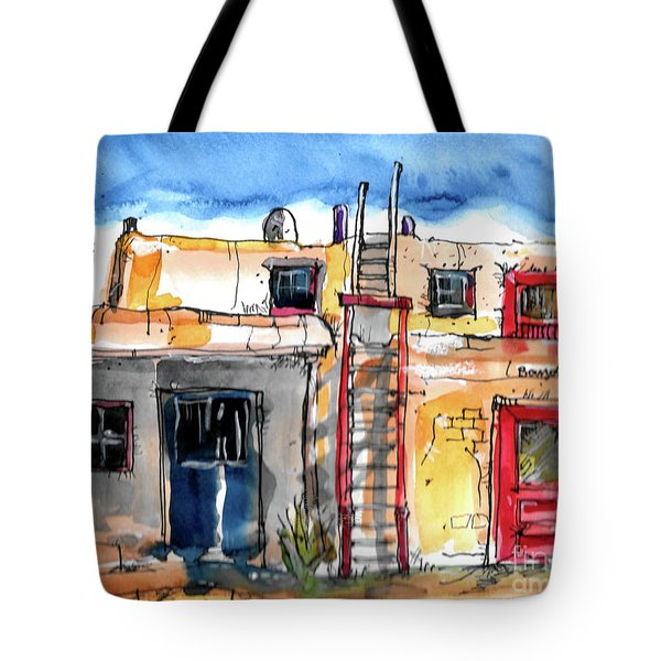 Tote Bag featuring the painting Southwestern Home by Terry Banderas