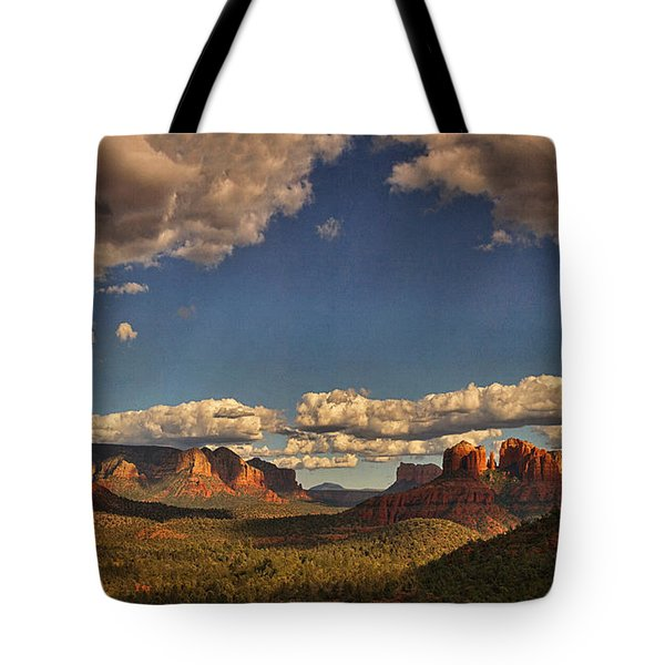 Southwestern Light Drama Text Tote Bag