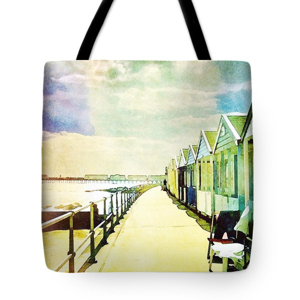 Tote Bag featuring the photograph Southwold Beach Huts by Anne Kotan