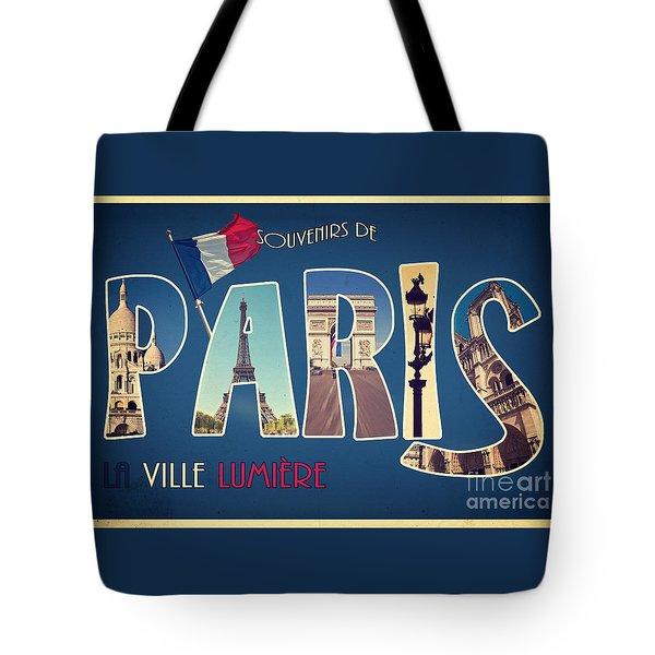Souvernirs De Paris Tote Bag