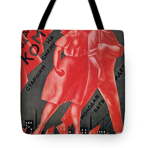 Soviet Poster, 1924 Tote Bag by Granger