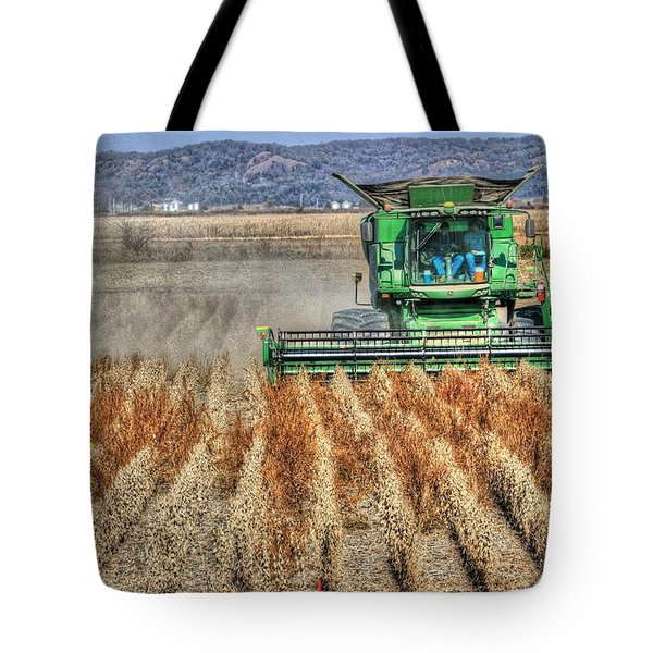 Soybean Harvest Fremont County Iowa Tote Bag