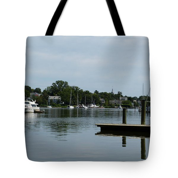 Spa Creek From The Park  Tote Bag by Donald C Morgan