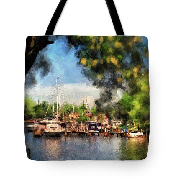 Spa Creek Tote Bag by Lois Bryan