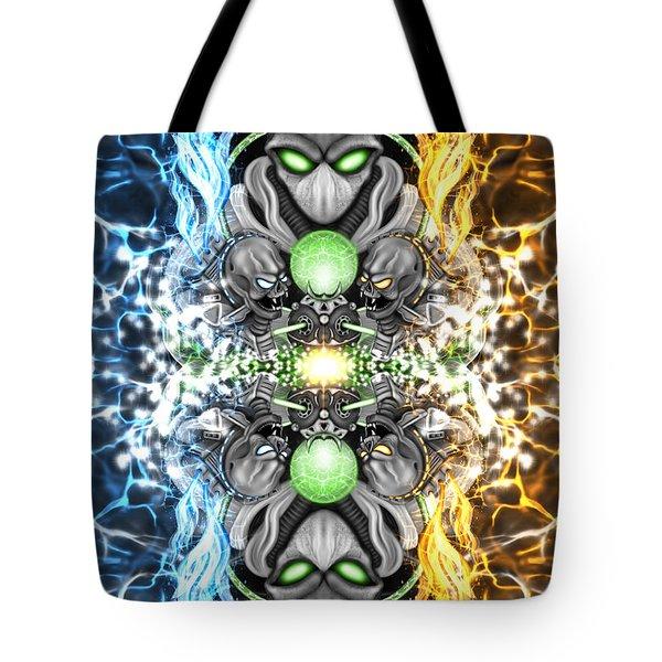 Space Alien Time Machine Fantasy Art Tote Bag