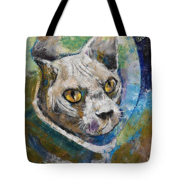 Space Cat Tote Bag by Michael Creese