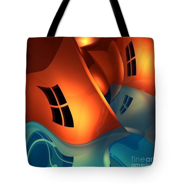 Space Curvature Tote Bag