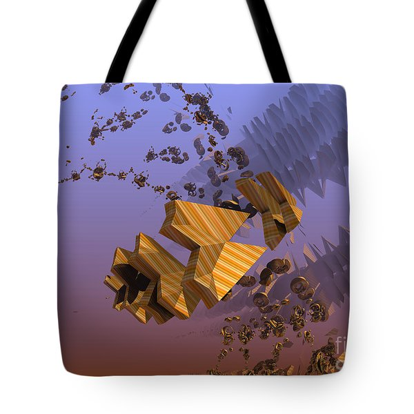 Tote Bag featuring the digital art Space Debris by Melissa Messick