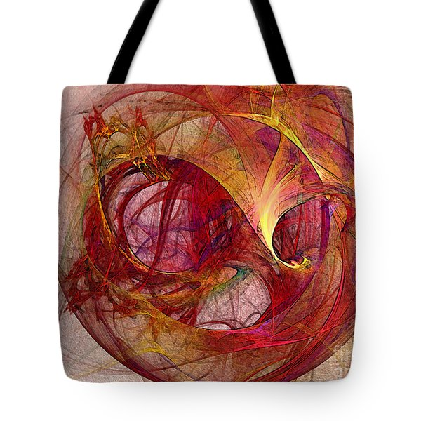 Space Demand Abstract Art Tote Bag