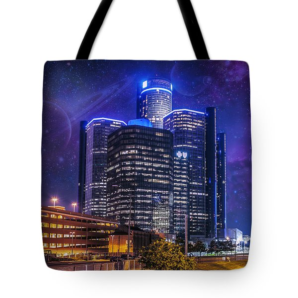 Tote Bag featuring the photograph Space Detroit by Nicholas  Grunas